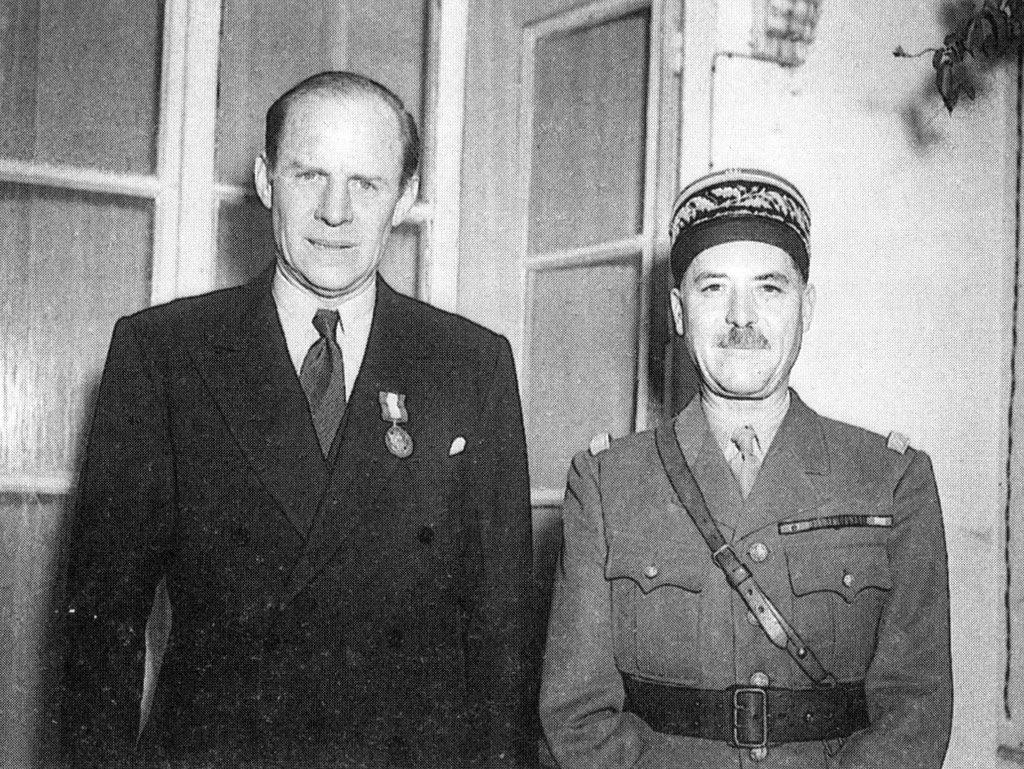 Robert Murphy, the senior American diplomat in Algiers and General Alphonse Juin, commander of French ground forces in North Africa