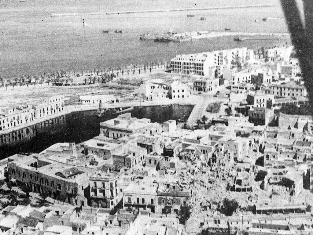 An aerial view of Bizerte, taken on May 10, 1943.