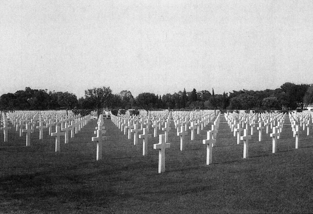 Twenty-seven acres of headstones today fill the American military cemetery at Carthage, outside Tunis. (Collection of the author)
