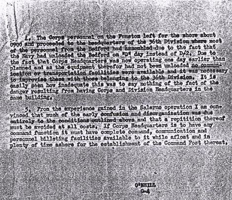A June 1944 memo to Maj. Gen. Lucian Truscott