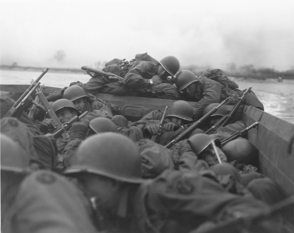 oldiers of the 89th Division, part of Patton's Third Army, crossing the Rhine at St. Goar on March 26.